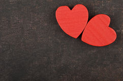 Heart on leather background Royalty Free Stock Photo