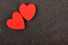 Heart on leather background Royalty Free Stock Photos