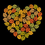 Heart with leaves Royalty Free Stock Photo