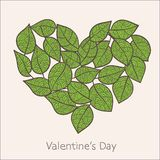 Heart of leaves, eco design Royalty Free Stock Photo