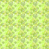 Heart leaves seamless background Stock Images