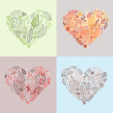 Heart of the leaves. Seasons Background. Stock Images