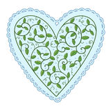 Heart with leaves Royalty Free Stock Images