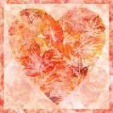 Heart from leaves, watercolor stock photography