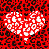 Heart with leopard print texture pattern Royalty Free Stock Photo