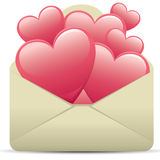 Heart Letter. Love concept -- writing a love letter Stock Image