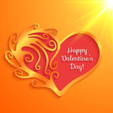 Heart with lettering Happy Valentine's Day Royalty Free Stock Images