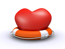Heart and life belt Stock Images