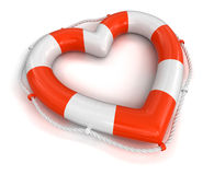 Heart Lifebuoy (clipping path included) Stock Image