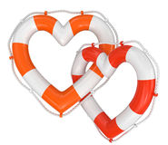 Heart Lifebuoy (clipping path included) Stock Images