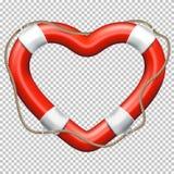 Heart Lifebuoy. EPS 10 Stock Photos