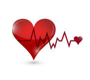 Heart lifeline illustration design Stock Images