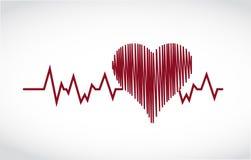 Heart lifesaver illustration design Royalty Free Stock Photography