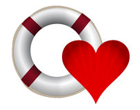 Heart and lifesaver sos illustration design Royalty Free Stock Photos