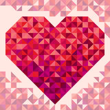 Heart on the light background in geometric style Stock Photography