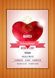 Heart on a light background. International Happy Women's Day Stock Images
