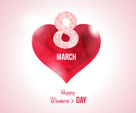 Heart on a light background. International Happy Women's Day Royalty Free Stock Image