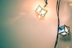 Heart light bulb, the Ornament decoration for happiness celebrat Stock Photos