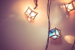 Heart light bulb, the Ornament decoration for happiness celebrat Stock Images