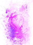 Heart in light circle, abstract graphic collage background. Stock Photo