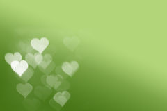 Heart light with Green Background Stock Photos