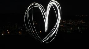Heart with lights stock photos