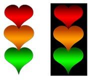 heart lights traffic Στοκ Εικόνες
