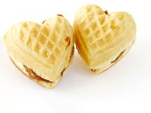 Heart-like biscuits Royalty Free Stock Photography