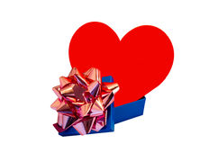 Heart like gift Stock Photos