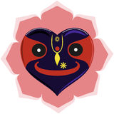 Heart-like Jagannath. Lord Krishna Jagannath in shape of heart Stock Photos