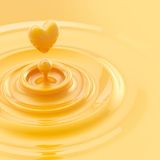 Heart like juice drop background Royalty Free Stock Photos