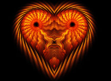 Heart like lion shape Royalty Free Stock Photography