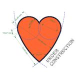 Heart like technical drawing Royalty Free Stock Photo
