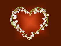 Heart of lillies Royalty Free Stock Photography