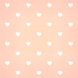 Heart line bg. White hearts on gradient of pink color Stock Image