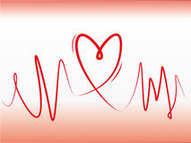 Heart line concept Royalty Free Stock Photo