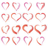 Heart line. Design elements for Valentine`s day Stock Photo