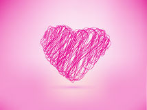 Heart line drawn style Royalty Free Stock Image