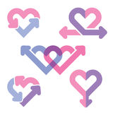 Heart line icons Royalty Free Stock Photography