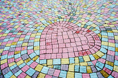 Heart lined with paving stones Stock Images