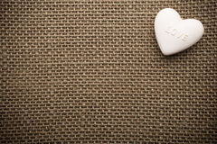 Heart of linen. Royalty Free Stock Photo