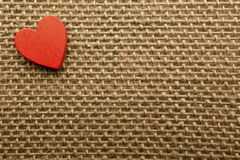 Heart of linen. Royalty Free Stock Image