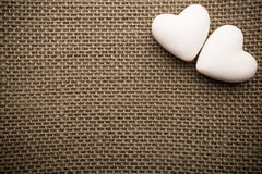 Heart of linen. Stock Photo