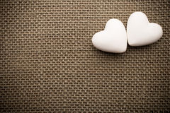 Heart of linen. Stock Photography