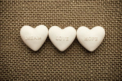 Heart of linen. Stock Photos