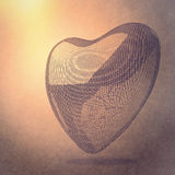 Heart lines mesh 3d Royalty Free Stock Photography