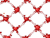 Heart Link Background Royalty Free Stock Images