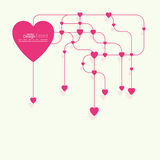 Heart with links. stock illustration