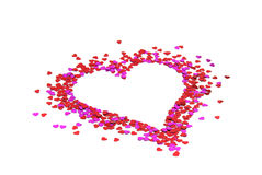Heart of the little red hearts Royalty Free Stock Image