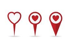 Heart location pointers Stock Photo